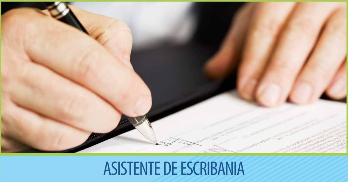 Asistente de Escribanía